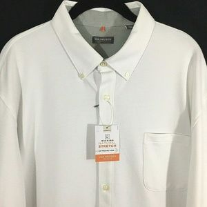Van Heusen Traveler Shirt White XXL UV Protection